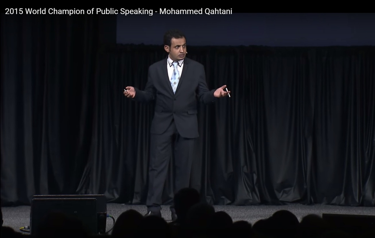 2015 world champion speaker Mohammed Qahtani